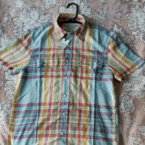 Lucky Brand Classic Fit Short sleeve Button up